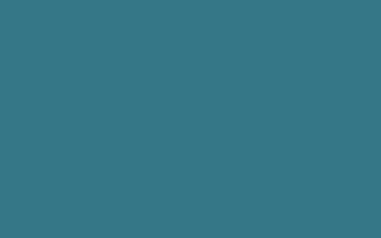 1280x800 Teal Blue Solid Color Background