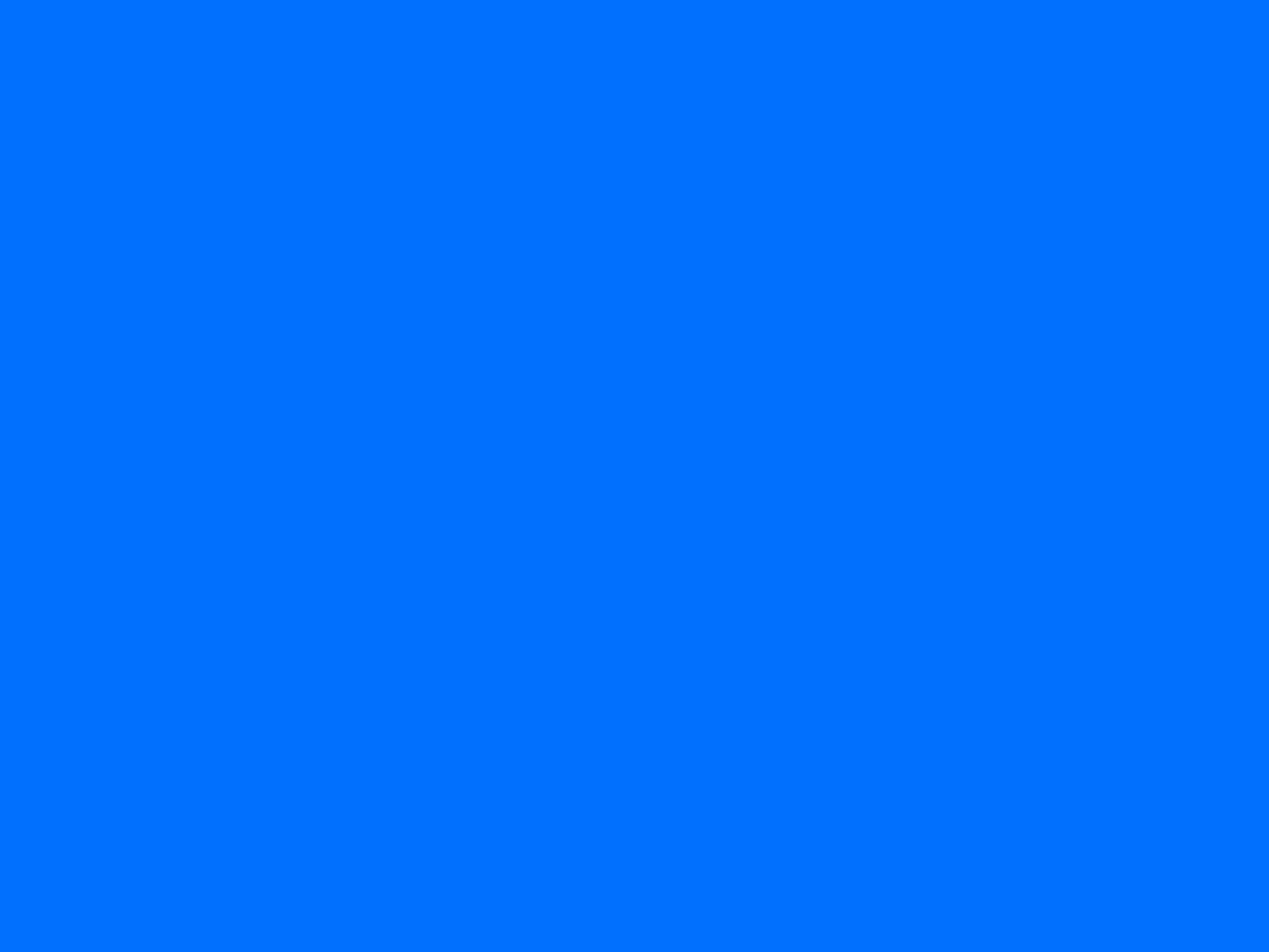 1280x960 Brandeis Blue Solid Color Background