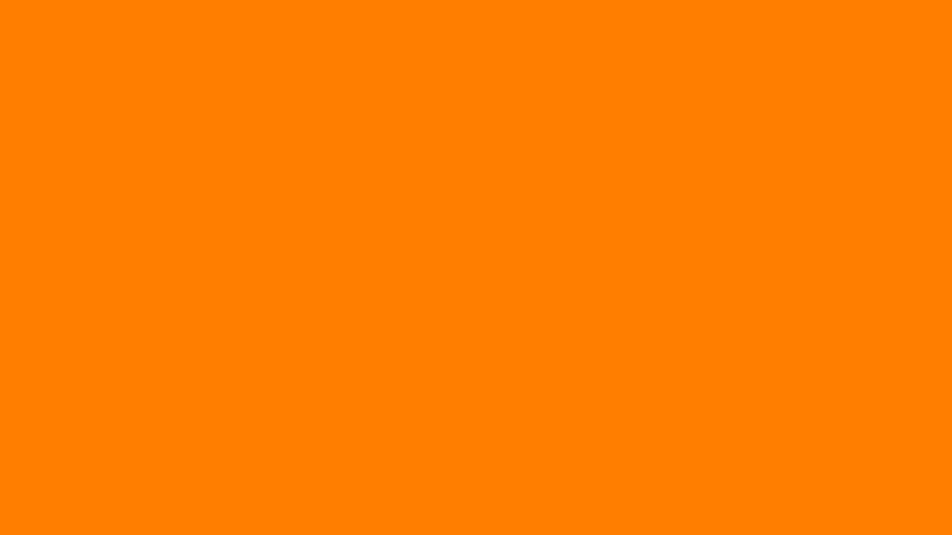 1366x768 Amber Orange Solid Color Background