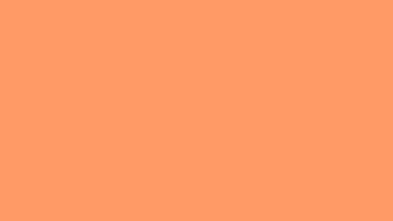 1366x768 Atomic Tangerine Solid Color Background