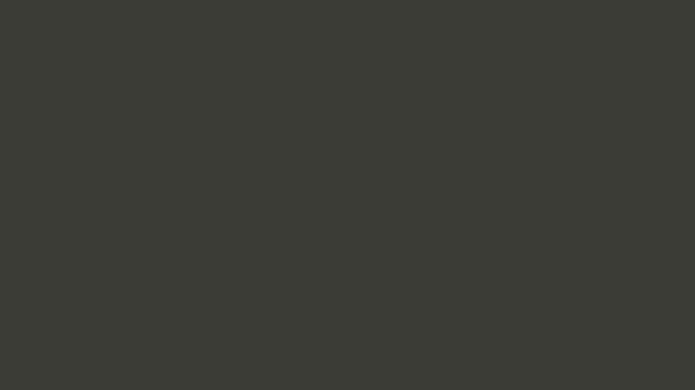 1366x768 Black Olive Solid Color Background