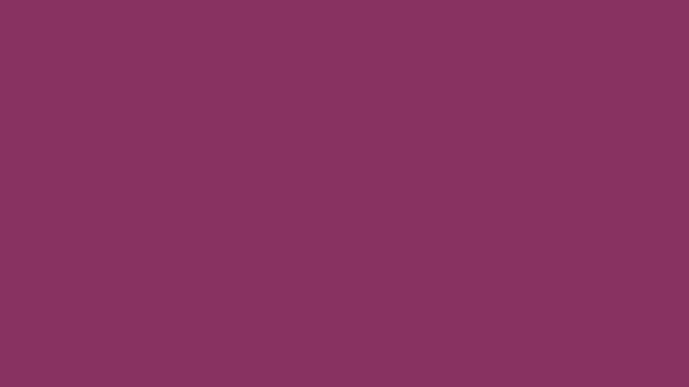 1366x768 Boysenberry Solid Color Background