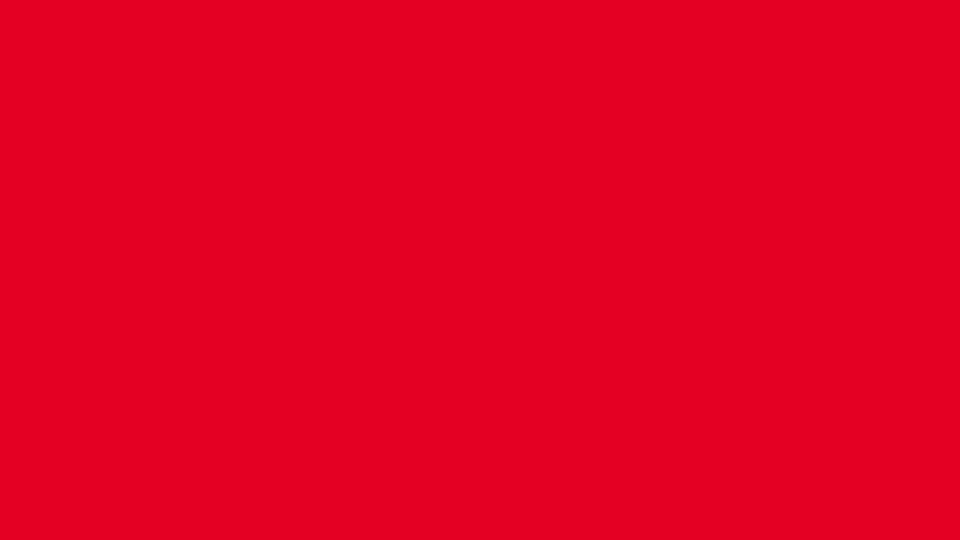 1366x768 Cadmium Red Solid Color Background
