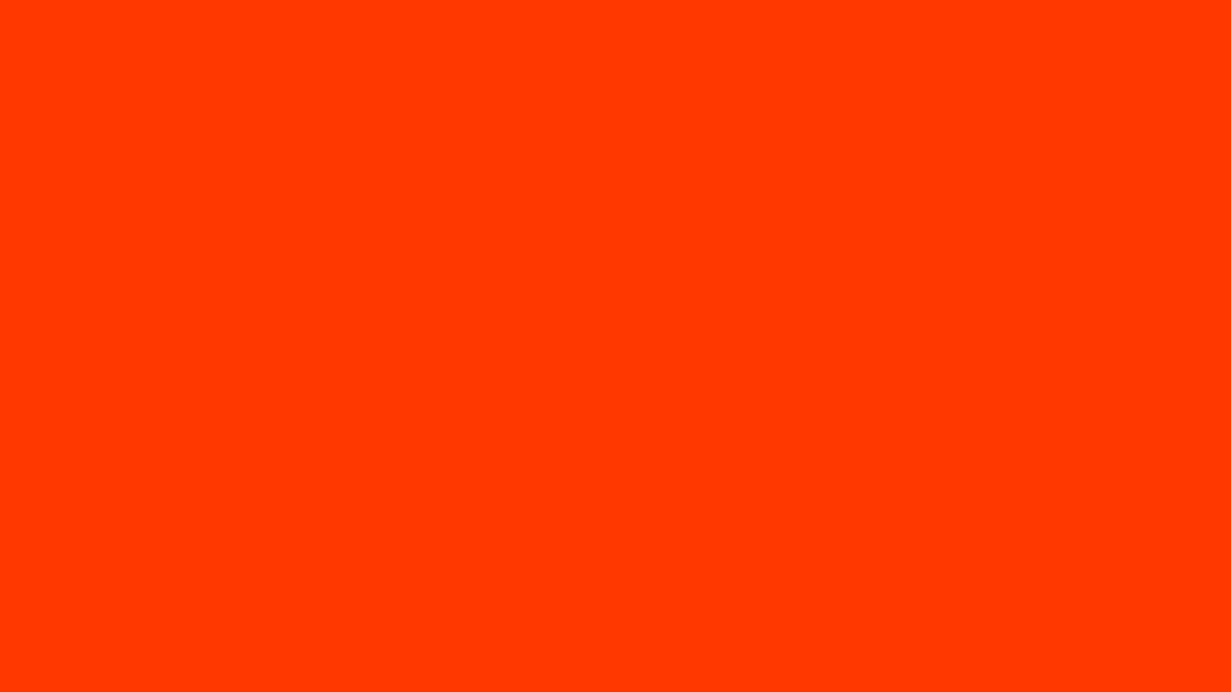1366x768 Coquelicot Solid Color Background