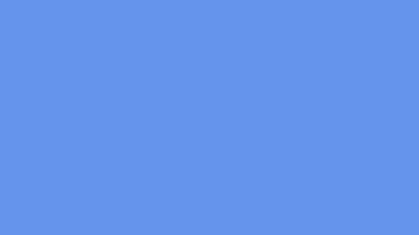 1366x768 Cornflower Blue Solid Color Background