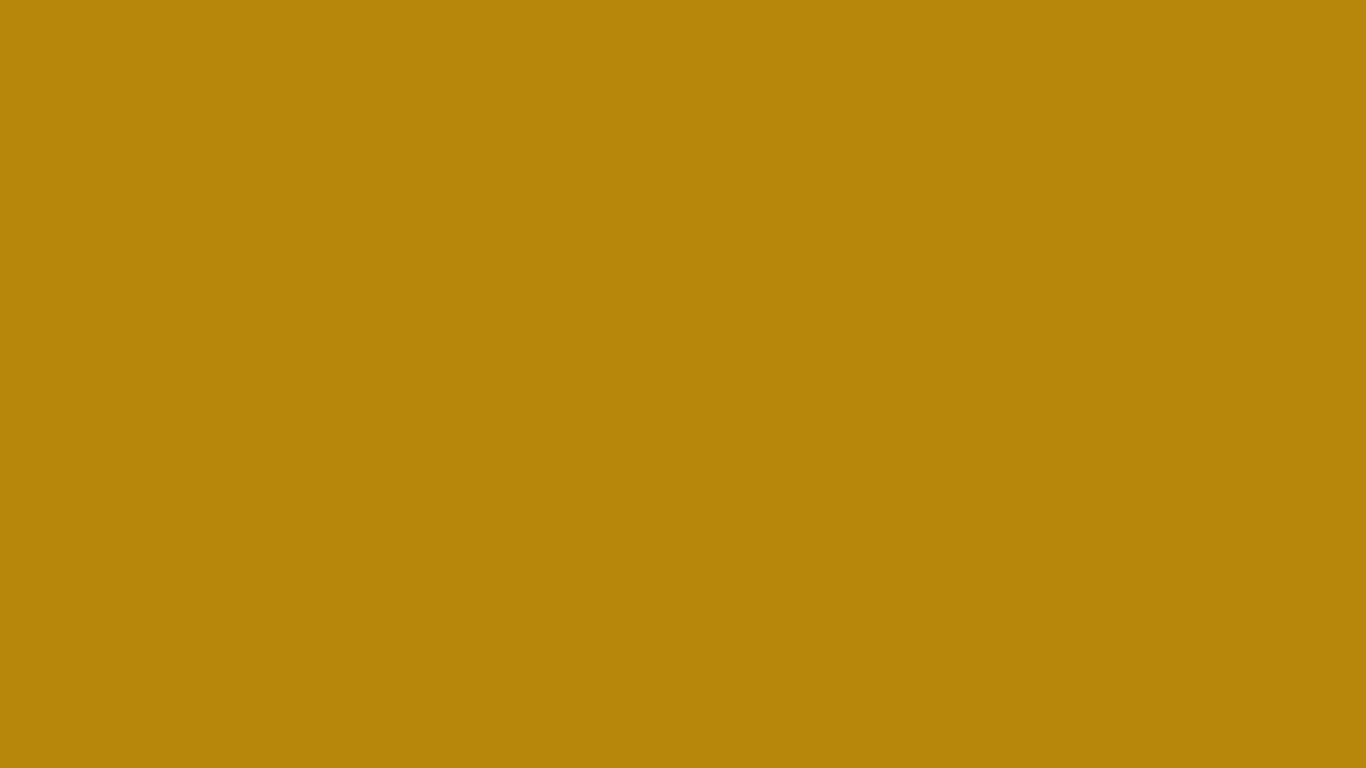 1366x768 Dark Goldenrod Solid Color Background