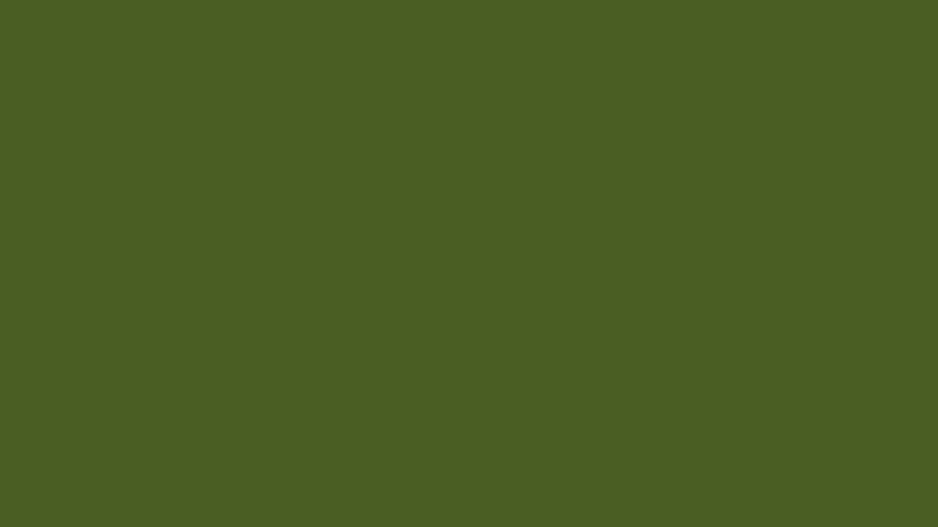 1366x768 Dark Moss Green Solid Color Background