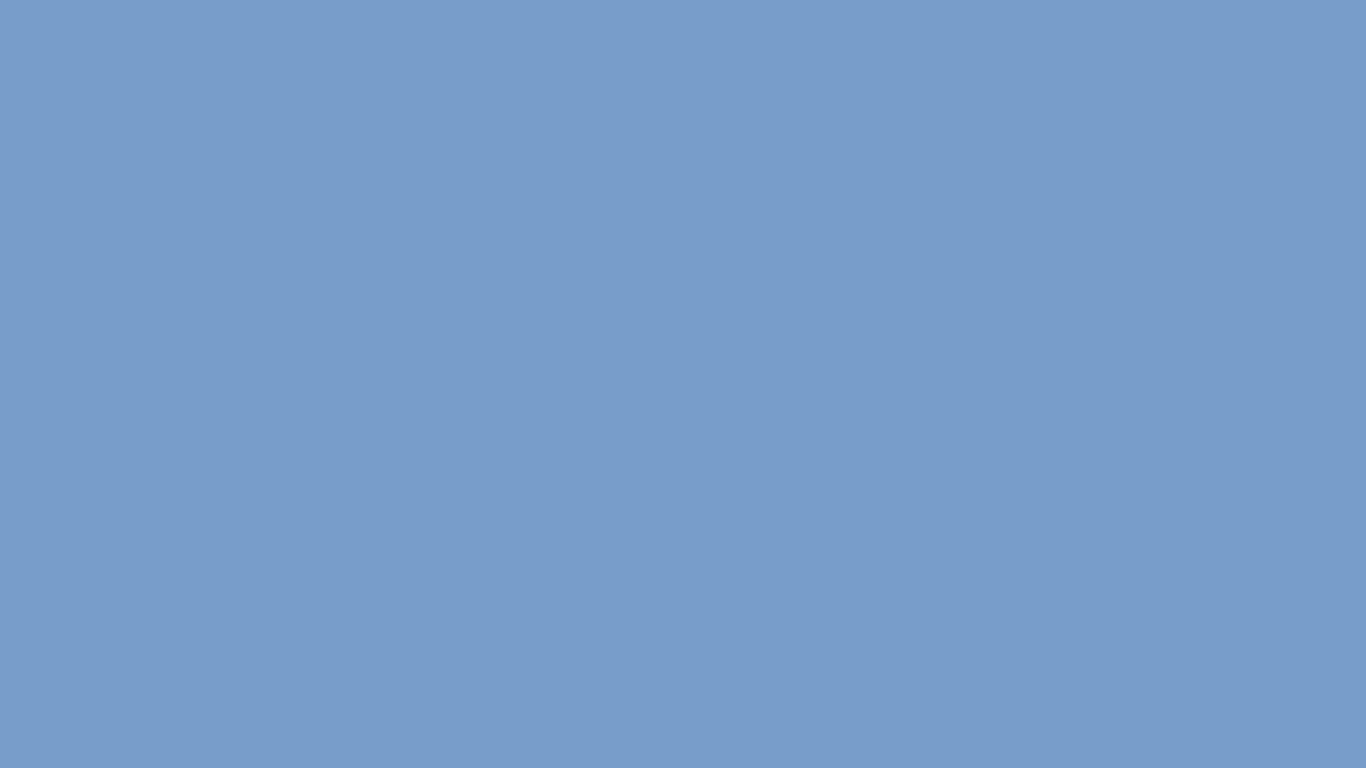 1366x768 Dark Pastel Blue Solid Color Background