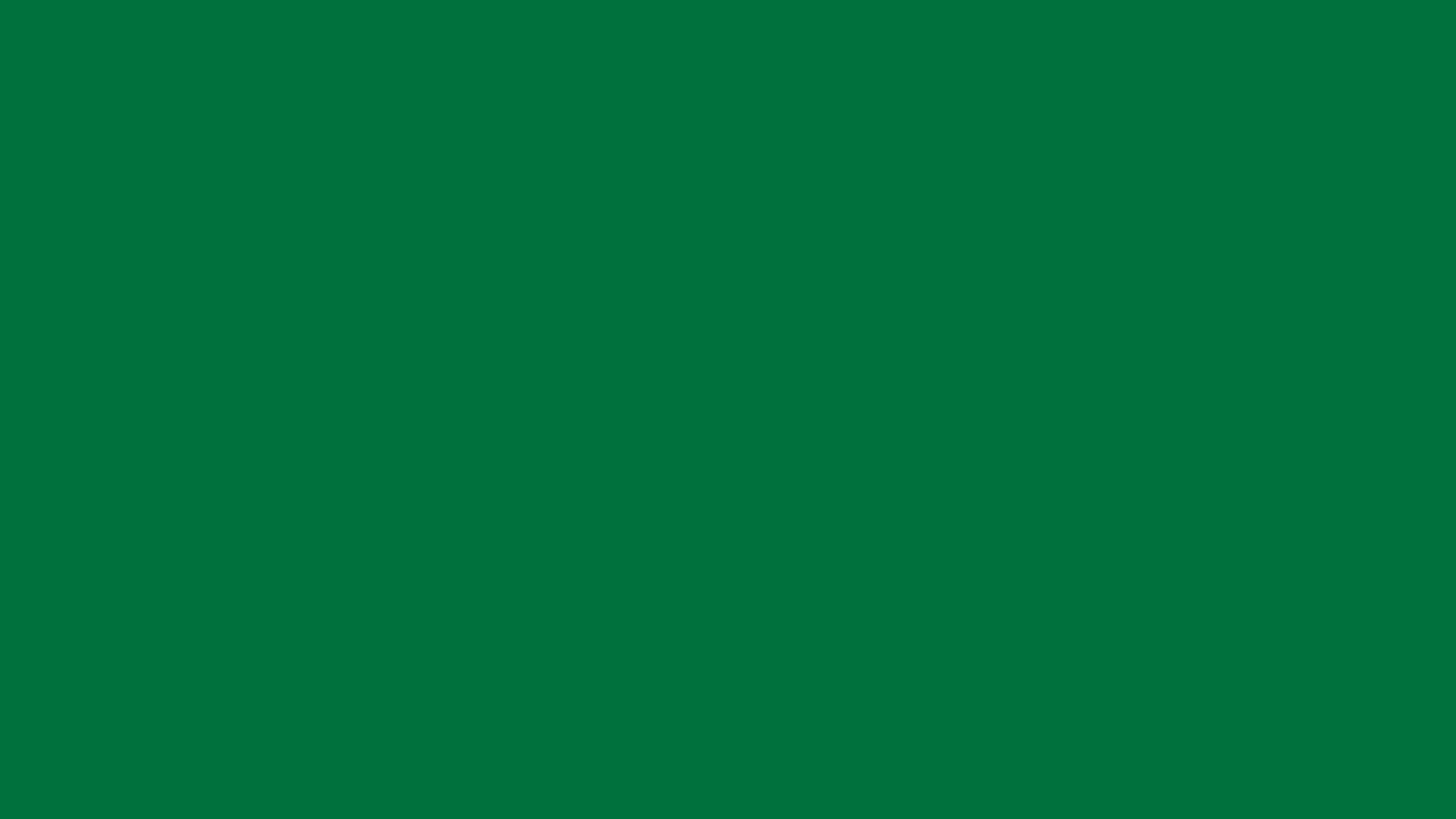 1366x768 Dartmouth Green Solid Color Background