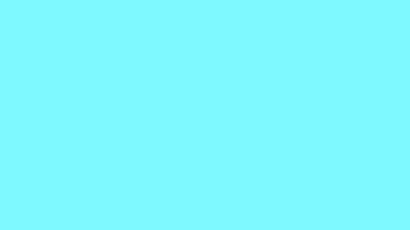 1366x768 Electric Blue Solid Color Background