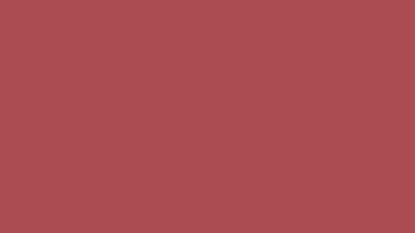 1366x768 English Red Solid Color Background
