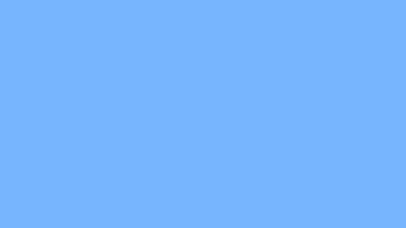 1366x768 French Sky Blue Solid Color Background