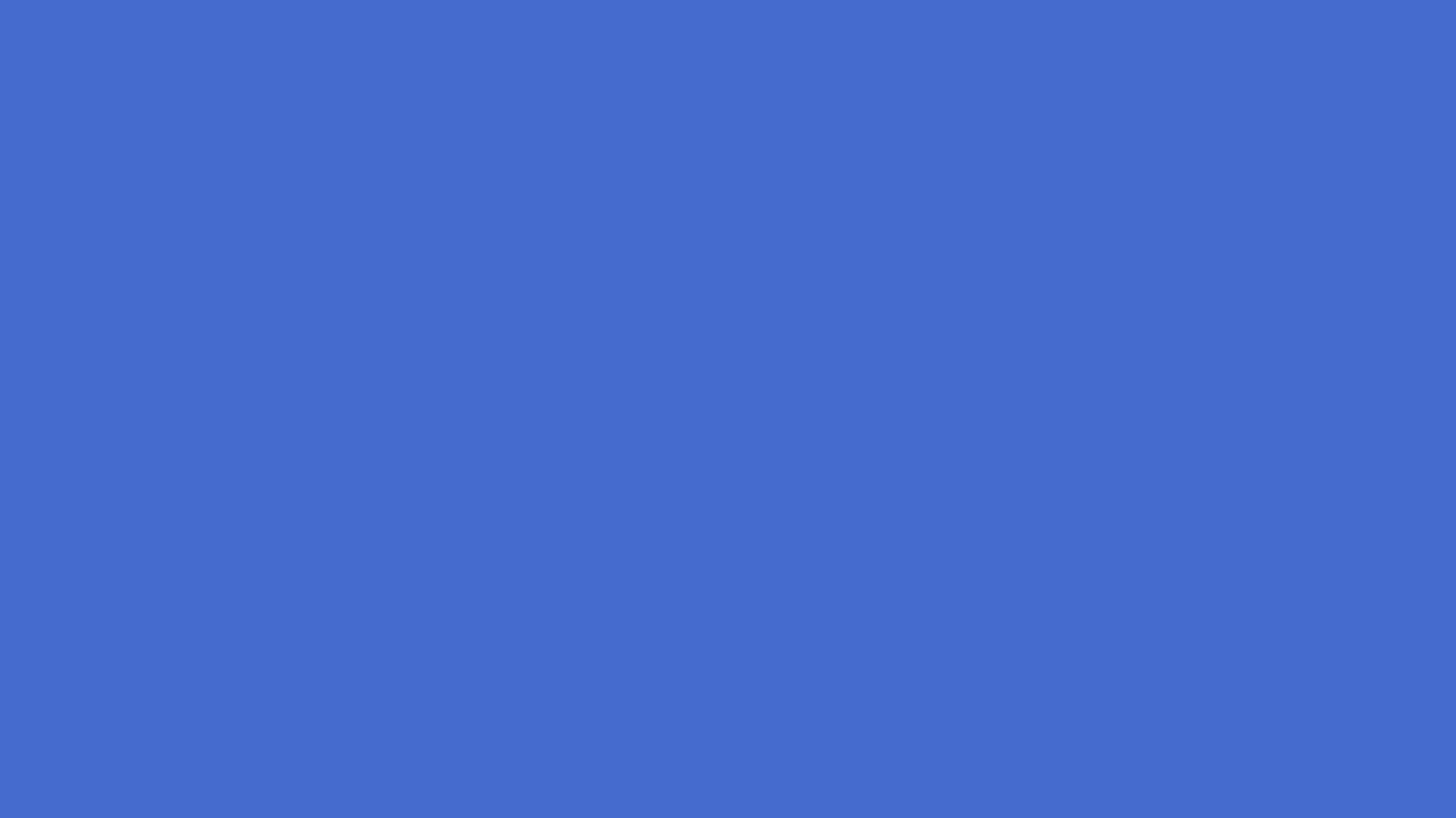 1366x768 Han Blue Solid Color Background