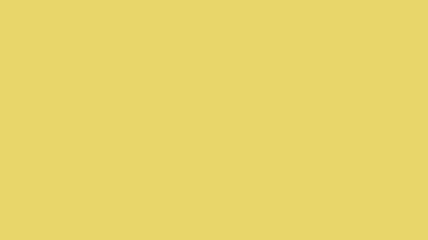 1366x768 Hansa Yellow Solid Color Background