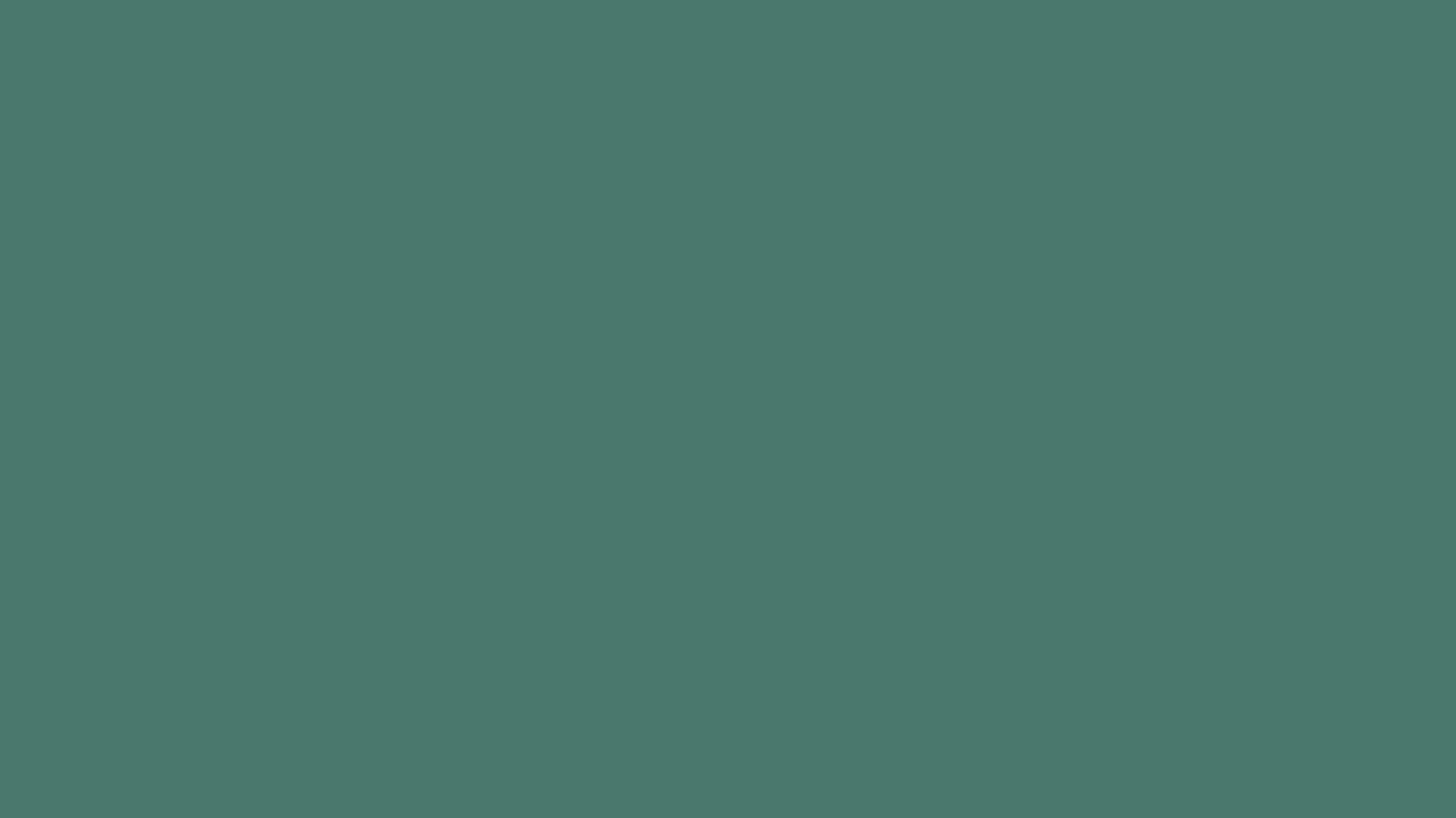 1366x768 Hookers Green Solid Color Background