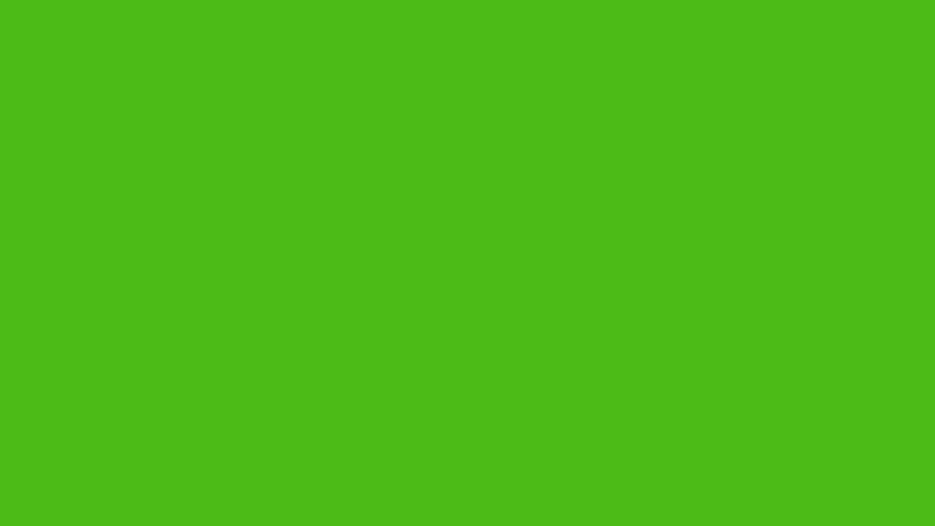 1366x768 Kelly Green Solid Color Background