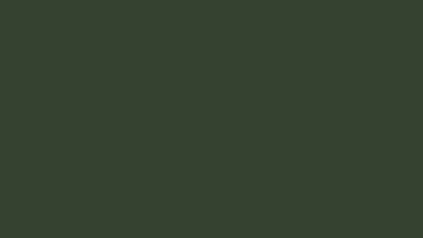 1366x768 Kombu Green Solid Color Background