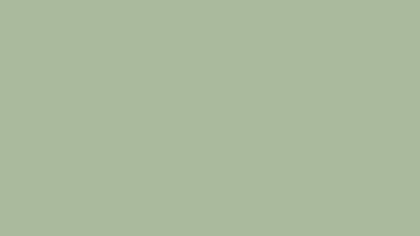 1366x768 Laurel Green Solid Color Background