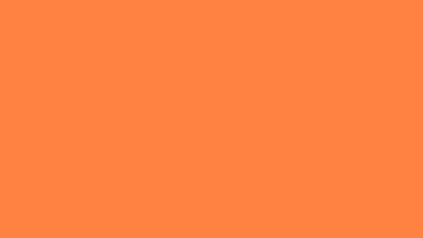 1366x768 Mango Tango Solid Color Background