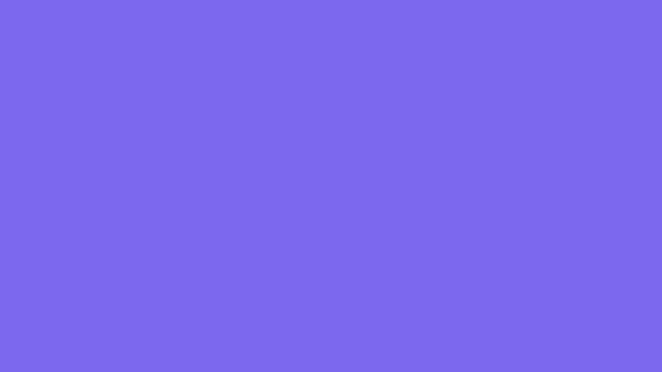 1366x768 Medium Slate Blue Solid Color Background