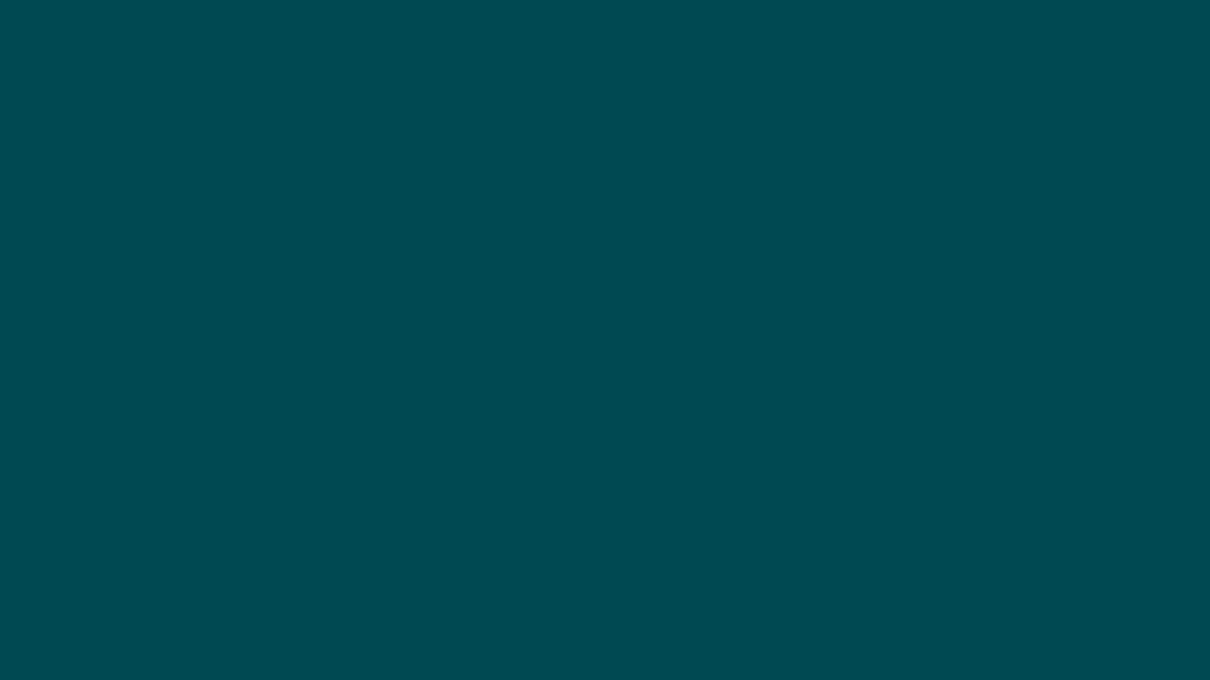 1366x768 Midnight Green Solid Color Background