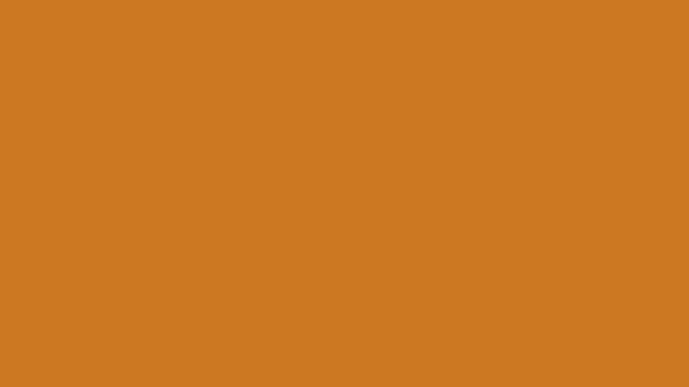 1366x768 Ochre Solid Color Background
