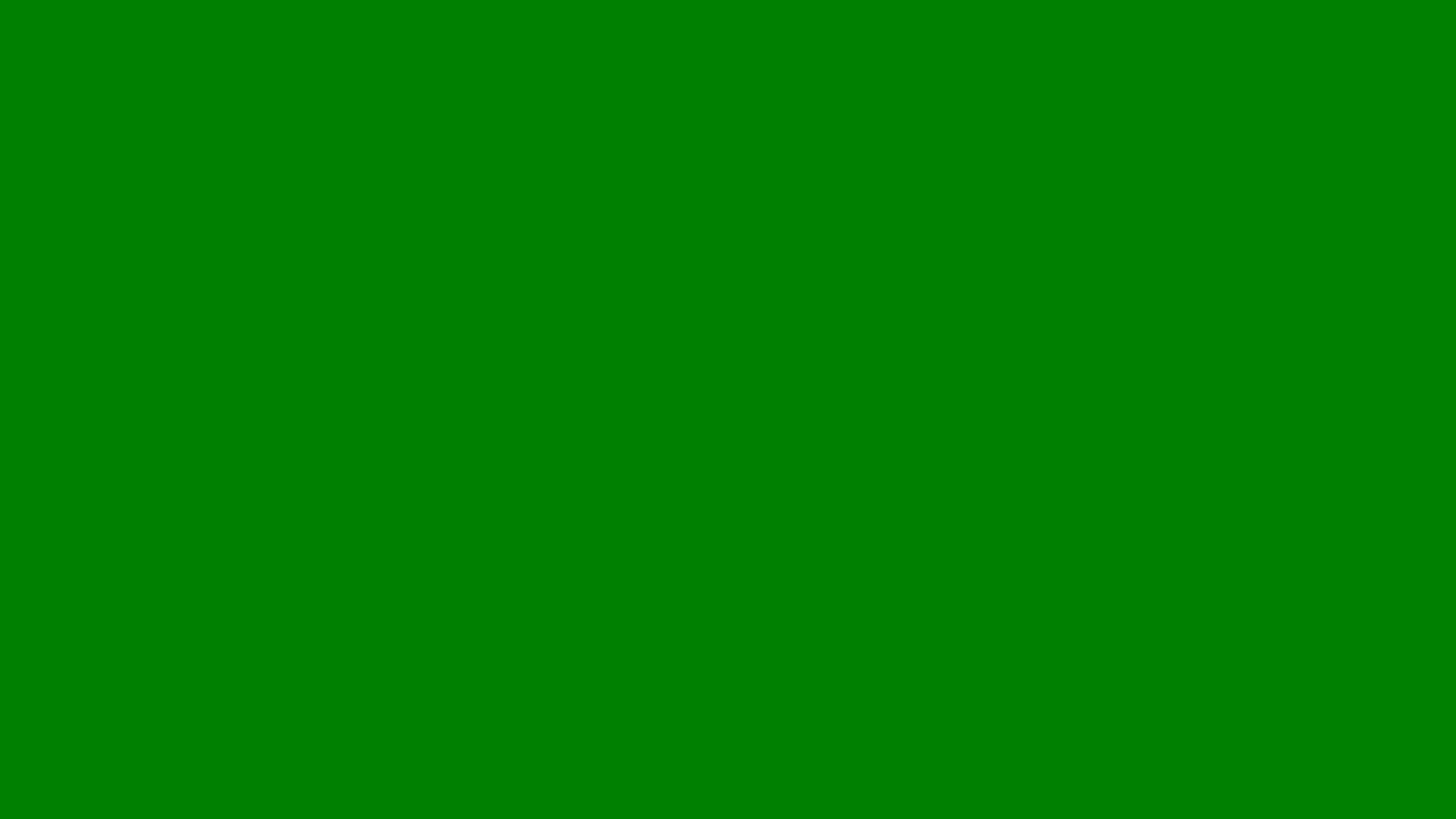 1366x768 Office Green Solid Color Background