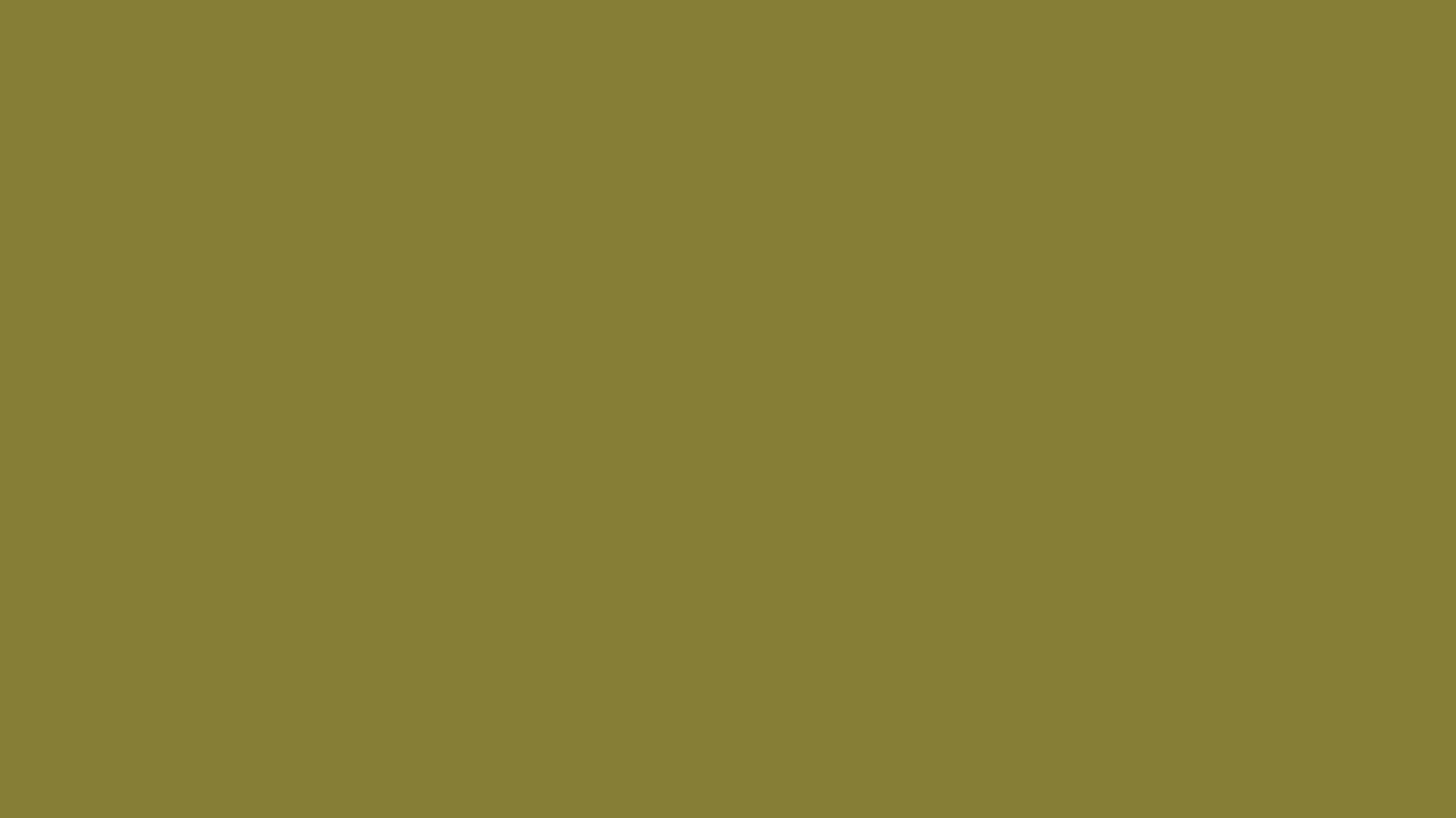 1366x768 Old Moss Green Solid Color Background