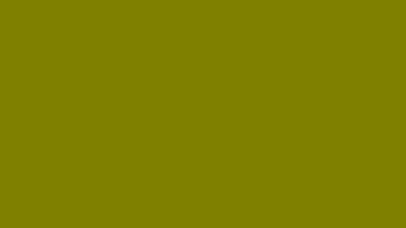 1366x768 Olive Solid Color Background