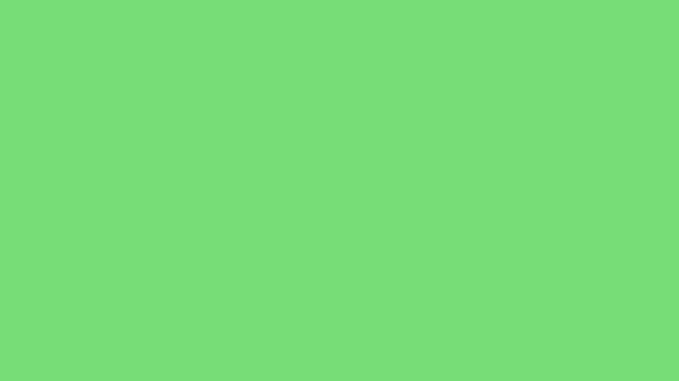 1366x768 Pastel Green Solid Color Background