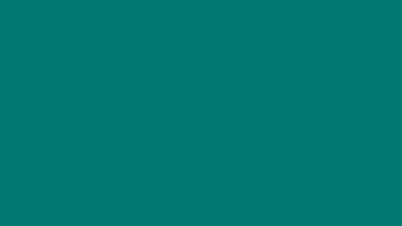 1366x768 Pine Green Solid Color Background