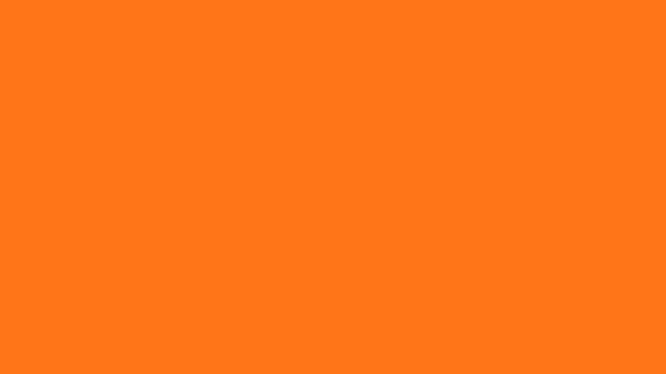 1366x768 Pumpkin Solid Color Background