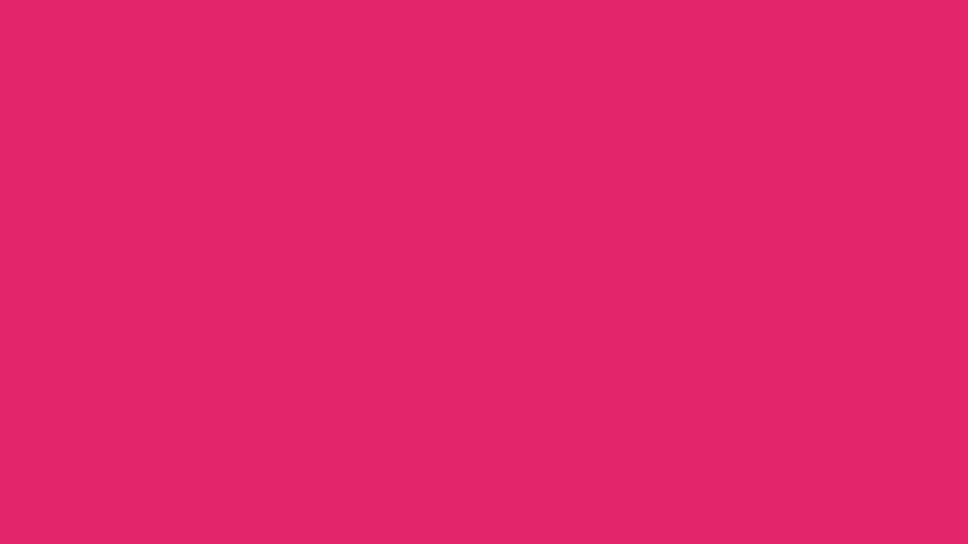 1366x768 Razzmatazz Solid Color Background