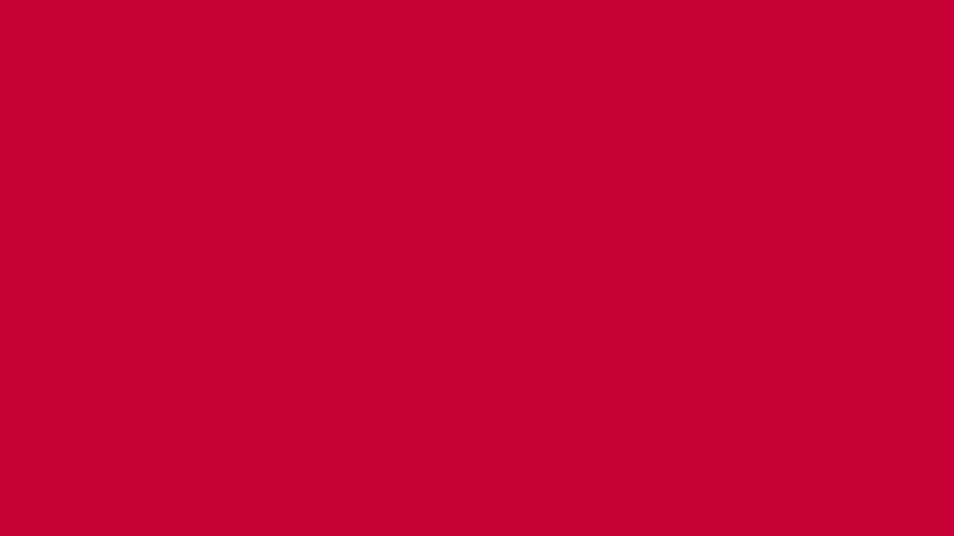 1366x768 Red NCS Solid Color Background