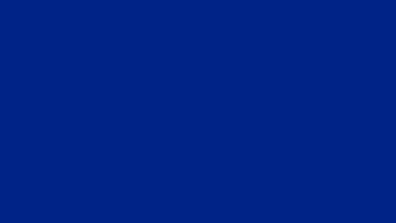 1366x768 Resolution Blue Solid Color Background