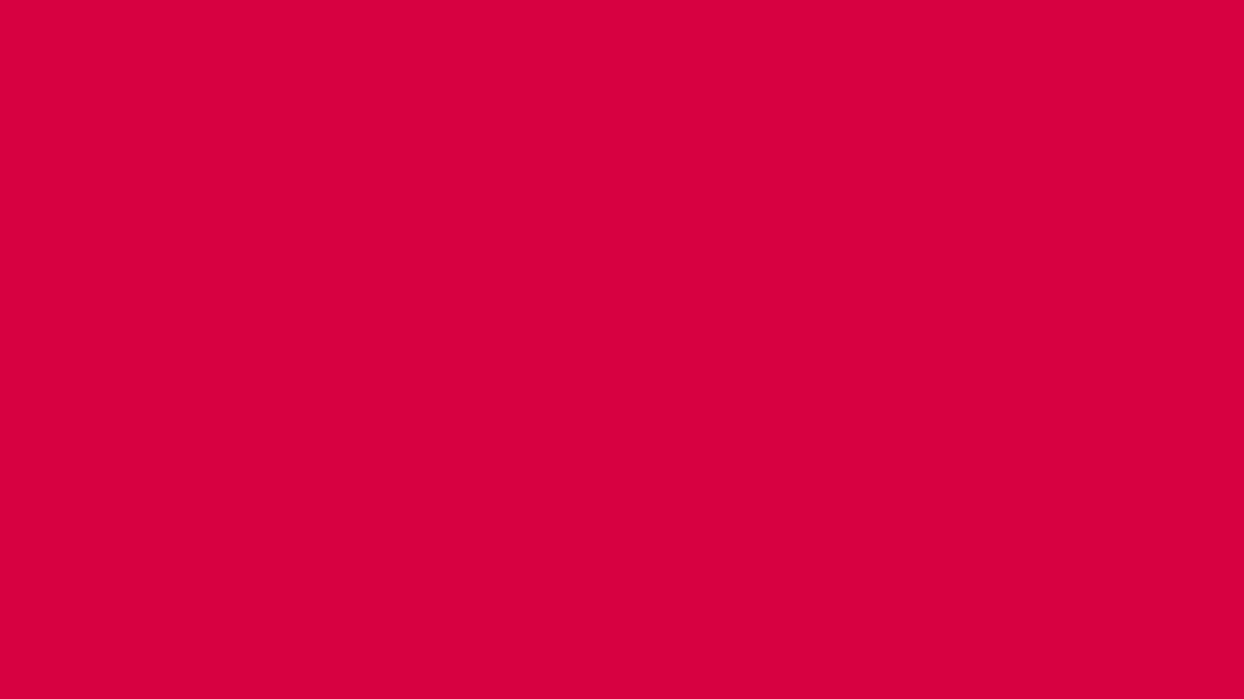 1366x768 Rich Carmine Solid Color Background