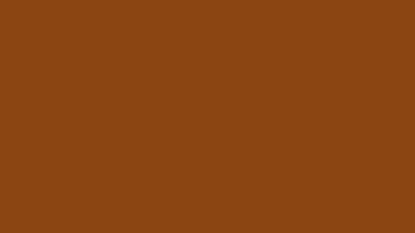 1366x768 Saddle Brown Solid Color Background