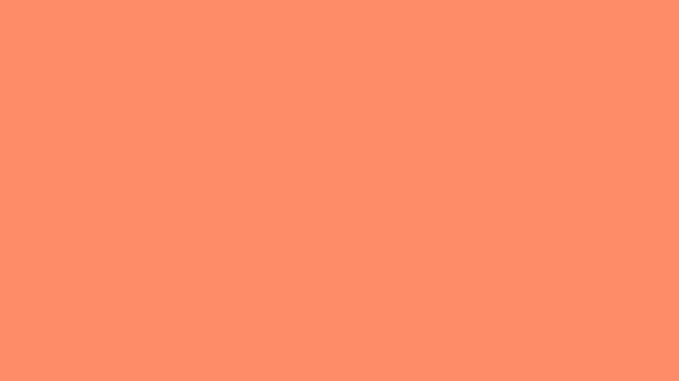 1366x768 Salmon Solid Color Background