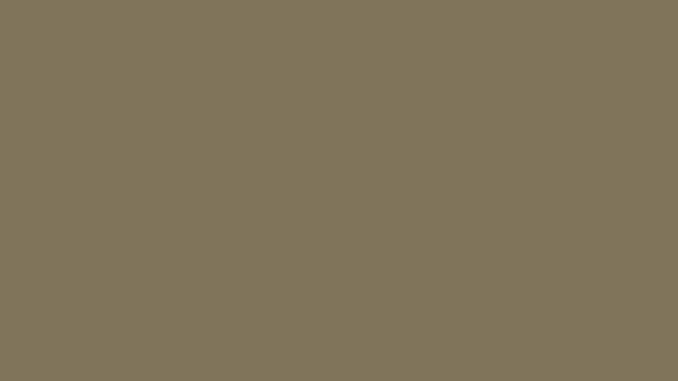 1366x768 Spanish Bistre Solid Color Background