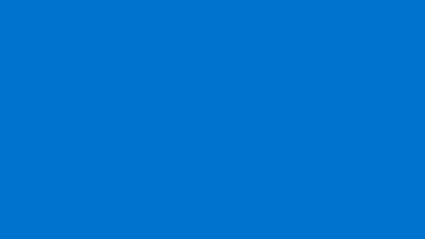 1366x768 True Blue Solid Color Background