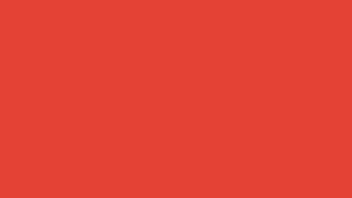 1366x768 Vermilion Cinnabar Solid Color Background