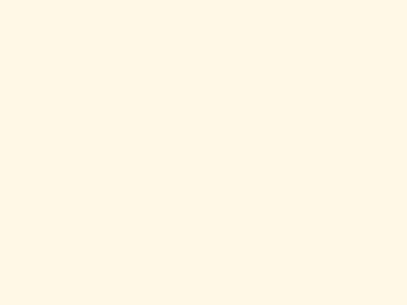 1400x1050 Cosmic Latte Solid Color Background