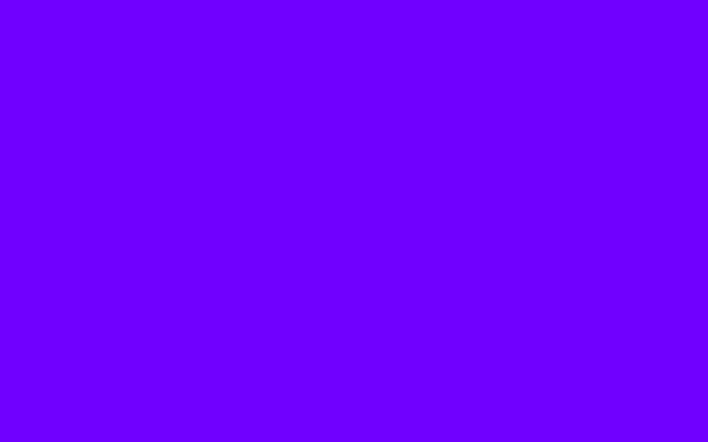 1440x900 Electric Indigo Solid Color Background