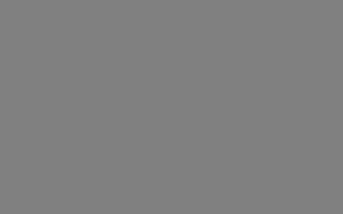 1440x900 Gray Solid Color Background