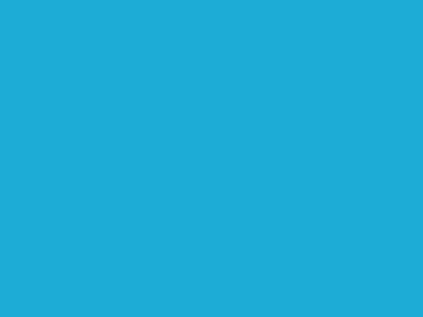 1600x1200 Bright Cerulean Solid Color Background