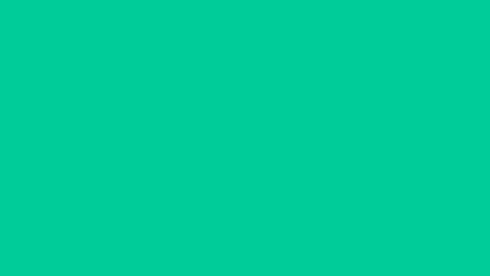 1600x900 Caribbean Green Solid Color Background
