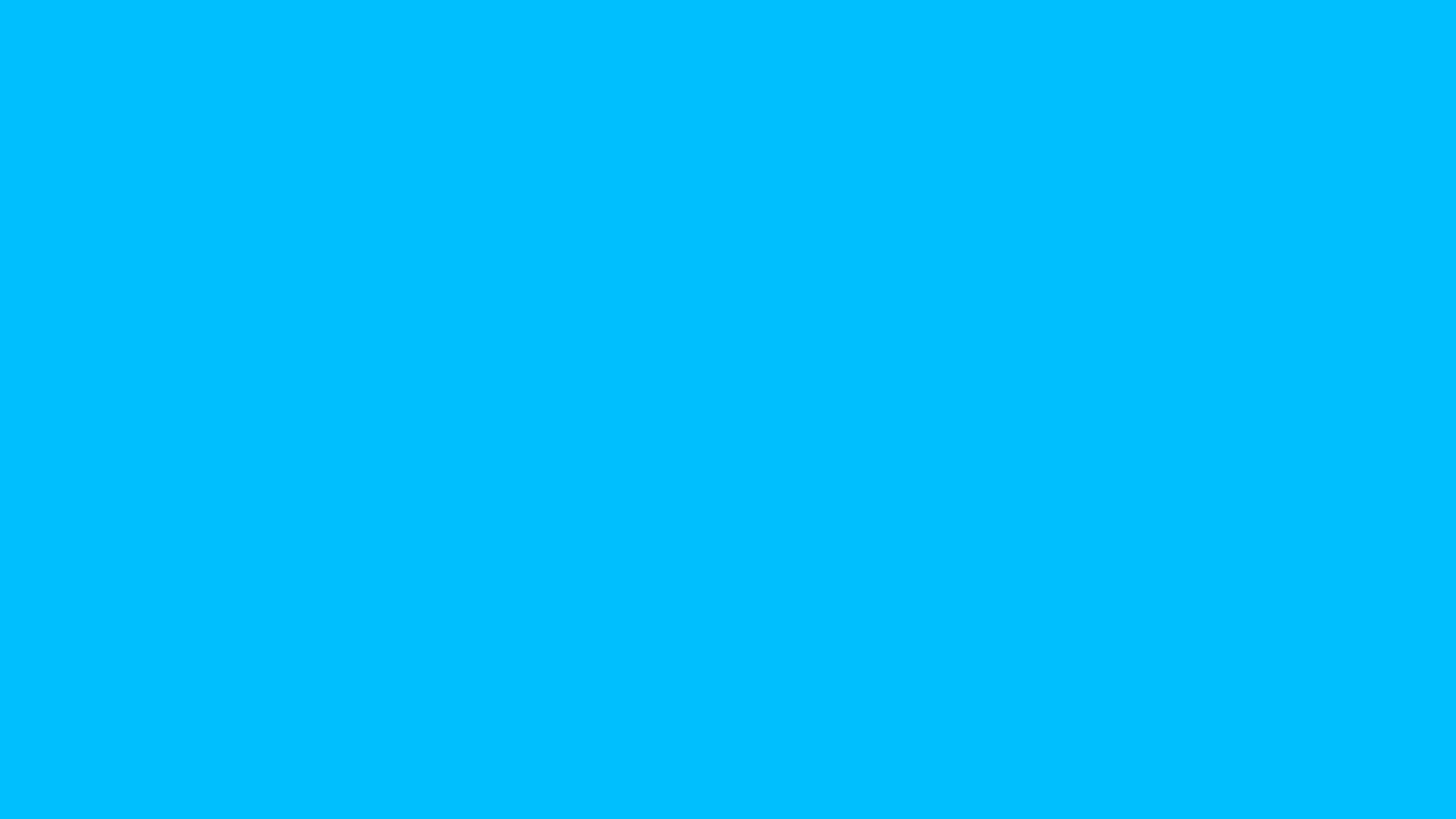 1600x900 Deep Sky Blue Solid Color Background