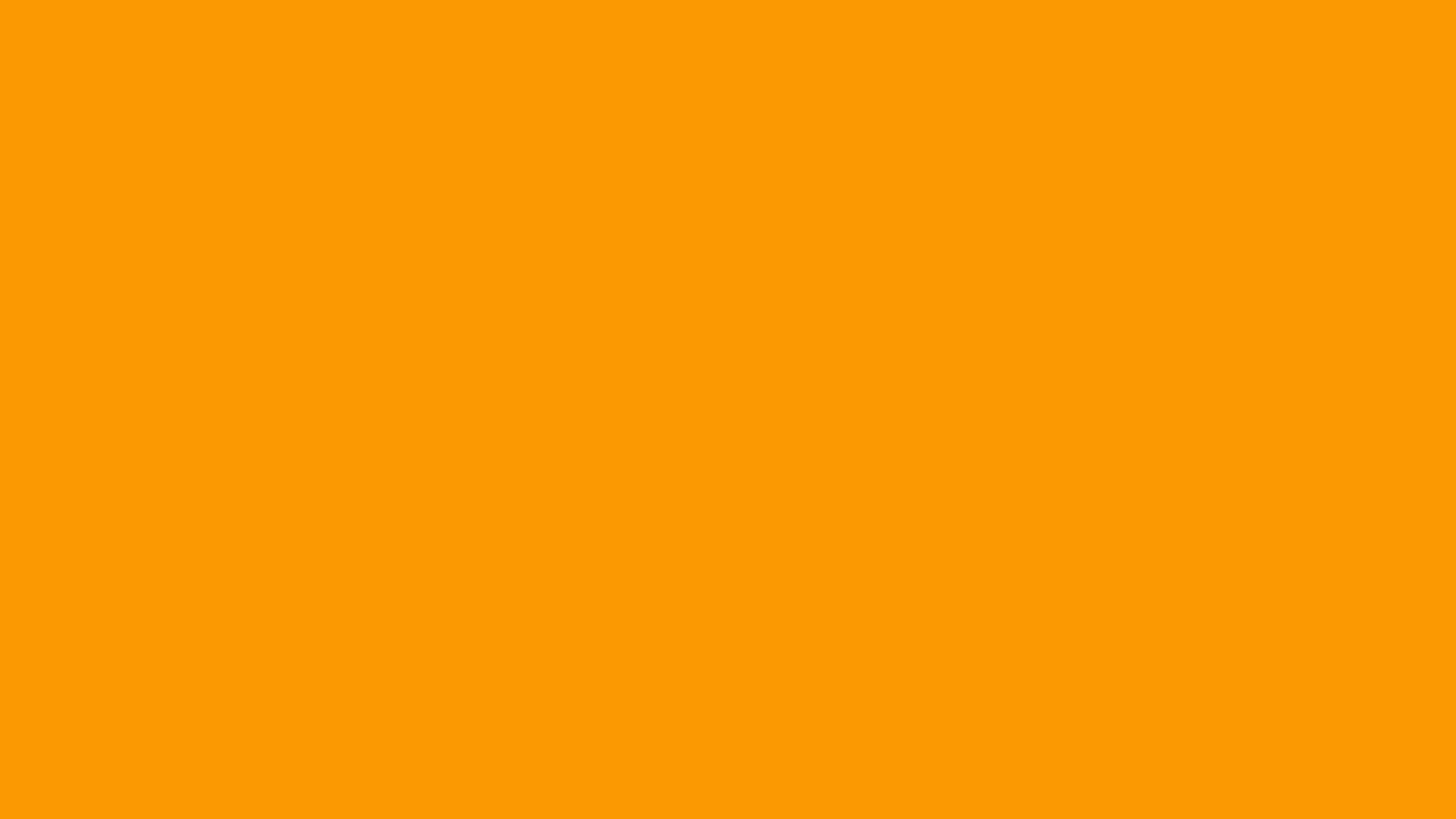 1600x900 Orange RYB Solid Color Background