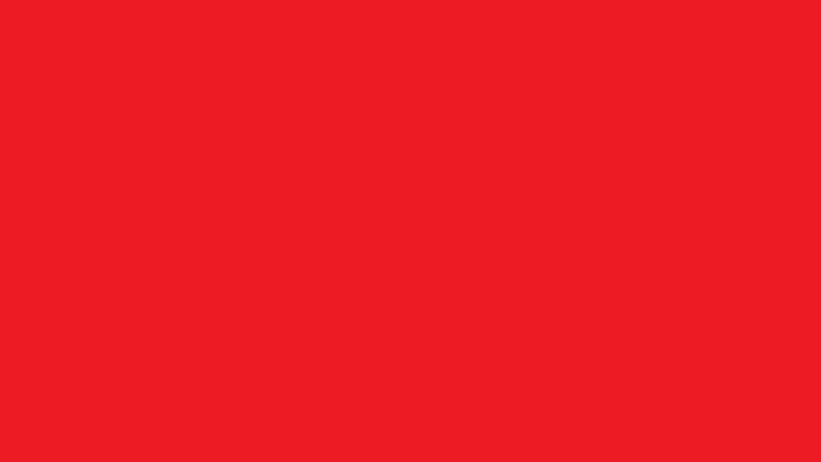 1600x900 Red Pigment Solid Color Background