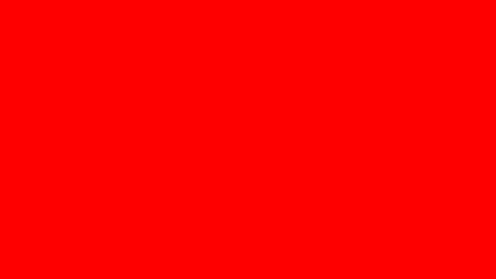 1600x900 Red Solid Color Background